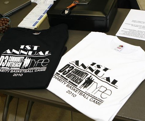 2010 - charity game - tshirts